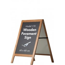 Wooden Pavement Sign