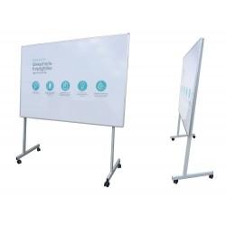 Whiteboard på enkeltsidet mobilt stativ